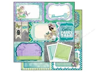 Patterns Angels/Cherubs/Fairies: Bo Bunny 12 x 12 in. Paper Enchanted Garden Pixies (25 pieces)