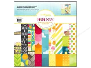 theme stickers  summer: Bo Bunny 12 x 12 in. Paper Collection Pack Lemonade Stand