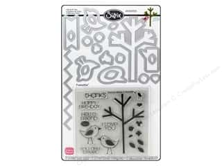 Sizzix Stamps: Sizzix Dies Framelits Stamp Birds & Tree by Stephanie Barnard