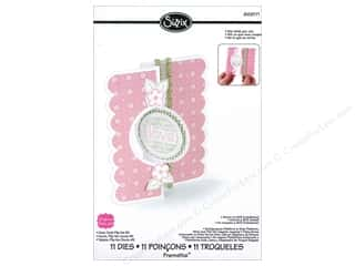 "Dies 12"": Sizzix Framelits Die Set 11PK Card Circle Flip-its #2 by Stephanie Barnard"
