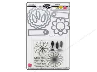Sizzix Die Framelits Stamps Flower & Tags by SBarnard