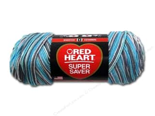 worsted weight yarn: Red Heart Super Saver Yarn #3952 Icelandic 236 yd.