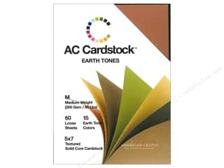 2013 Crafties - Best Adhesive: American Crafts 5 x 7 in. Cardstock Pack Earthtones