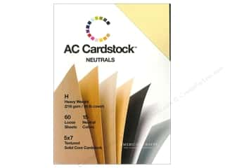 Clearance Coredinations Cardstock Packs: American Crafts 5 x 7 in. Cardstock Pack Neutrals
