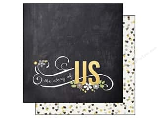 Simple Stories Paper 12x12 Story/Us Love Story (25 piece)