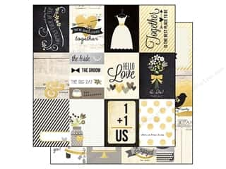 "Wedding $3 - $4: Simple Stories Paper 12""x 12"" The Story Of Us Journal 3""x 4"" (25 pieces)"
