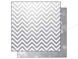 "Simple Stories Papers: Simple Stories Paper 12""x 12"" The Story Of Us Silver Chevron/Bokeh (25 pieces)"