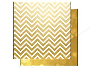 "Simple Stories Papers: Simple Stories Paper 12""x 12"" The Story Of Us Gold Chevron/Bokeh (25 pieces)"