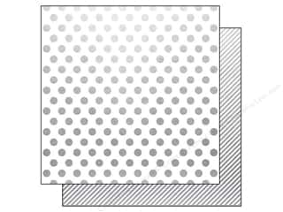 Simple Stories Paper 12x12 Story/Us Silver Dot/Str (25 piece)
