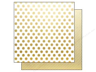 "Simple Stories Designer Papers & Cardstock: Simple Stories Paper 12""x 12"" The Story Of Us Gold Dot/Stripe (25 pieces)"