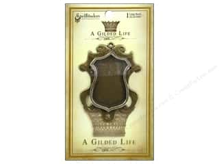 Spellbinders Bezel Gilded Life Shield Large Gold
