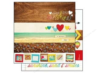 Simple Stories Paper 12x12 Good Day Sun Brdr&Title (25 piece)