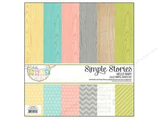 "Simple Stories 6"": Simple Stories Kit Hello Baby Basics 12""x 12"""