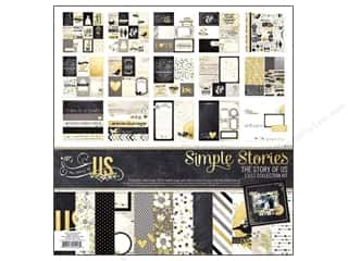 "Crafting Kits ABC & 123: Simple Stories Kit The Story Of Us Collection 12""x 12"""