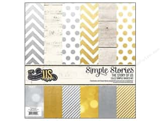 "Simple Stories Simple Stories Kit: Simple Stories Kit The Story Of Us Basics 12""x 12"""