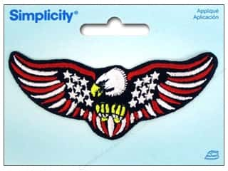 Appliques Americana: Simplicity Appliques Iron On US Flag With Eagle