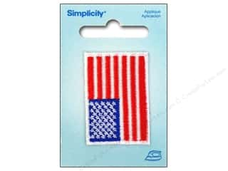 Sewing Construction Americana: Simplicity Appliques Iron On Small USA Flag