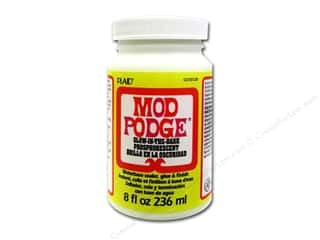 Glues/Adhesives: Plaid Mod Podge Glow In The Dark 8oz