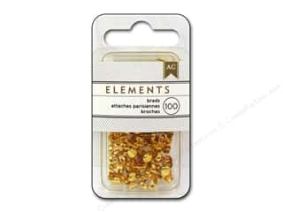 brads mini: American Crafts Elements Brads 5 mm Mini 100 pc. Gold