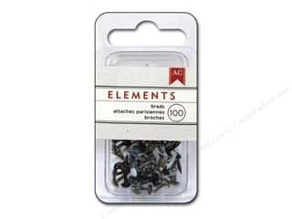 American Crafts Office: American Crafts Elements Brads 5 mm Mini 100 pc. Metallic