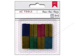 Staple: American Crafts DIY Shop Mini Stapler Refills 1600 pc. Colored