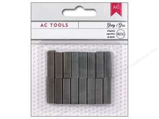 Staple: American Crafts DIY Shop Mini Stapler Refills 1600 pc. Grey