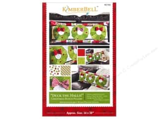 "Books & Patterns 16"": Kimberbell Designs Deck The Halls! Bench Pillow Pattern"