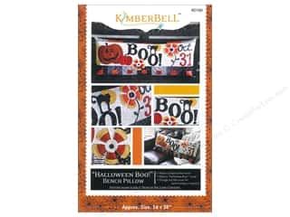 Black Cat Creations Quilting Patterns: Kimberbell Designs Halloween Boo! Bench Pillow Pattern