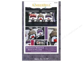 Bareroots Home Decor Patterns: Kimberbell Designs Whimsy Winter Bench Pillow Pattern