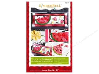 "Books & Patterns 16"": Kimberbell Designs Slice Of Summer Watermelon Bench Pillow Pattern"