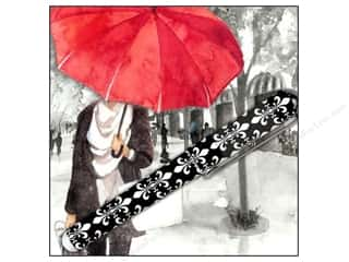 Lily McGee Note Pad Matchbook w/Pen Red Umbrella