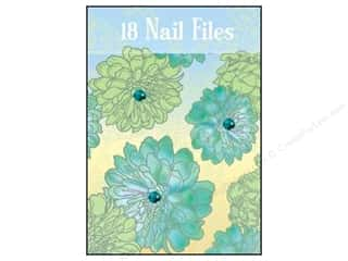 Lily McGee Nail File Matchbook Blue Floral 18pc