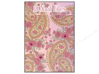 Lily McGee Nail File Matchbook Pink Paisley 18pc