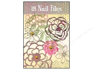 Lily McGee Nail File Matchbook Texturd Floral 18pc