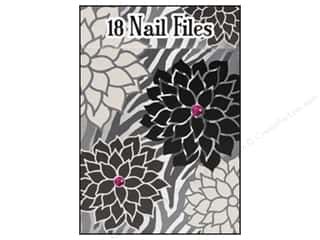 Files Black: Lily McGee Nail File Matchbook Zebra Floral 18pc
