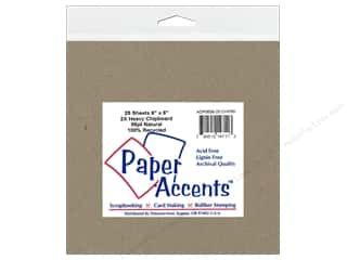 New: Paper Accents Chipboard 6 x 6 in. 2X Heavy Natural (25 pieces)