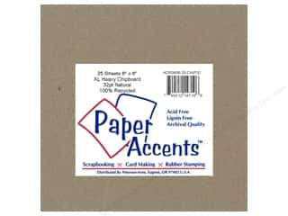 Chipboard Chipboard Embellishments: Paper Accents Chipboard 6 x 6 in. 32 pt. XL Heavy Natural (25 pieces)