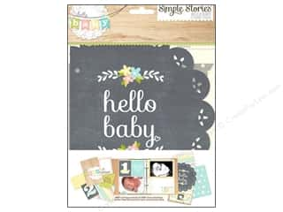 Simple Stories Paper Die Cuts / Paper Shapes: Simple Stories SN@P! Pages Hello Baby