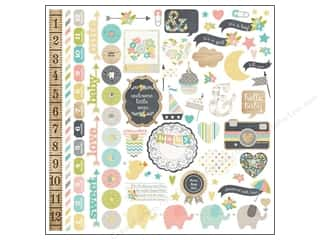 Simple Stories Borders: Simple Stories Sticker Hello Baby Fundamentals