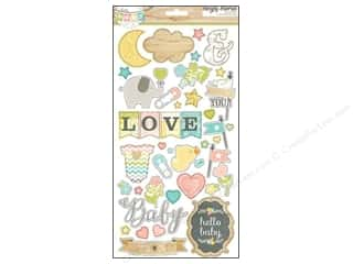 Simple Stories Sticker Hello Baby Chipboard
