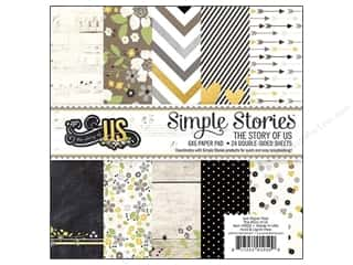 "Wedding Papers: Simple Stories Paper Pad The Story Of Us 6""x 6"""
