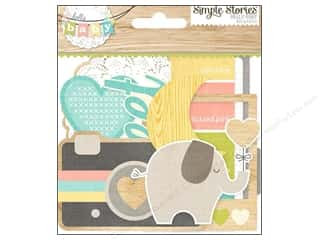 Simple Stories Paper Die Cuts / Paper Shapes: Simple Stories Bits & Pieces Hello Baby
