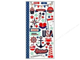 Independence Day Stickers: Simple Stories Sticker Sea To Shining Sea Fundamentals