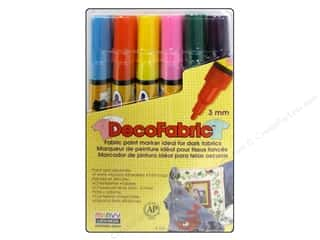 Pens Fabric Pens: Uchida DecoFabric Paint Pen Marker Set Fine Point Complementary