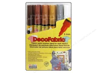 Uchida DecoFabric Paint Pen Marker Set 6 pc. Fine Point Jewel