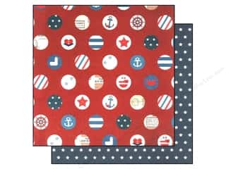 "Papers Americana: Simple Stories Paper 12""x 12"" Sea To Shining Sea Stars & Stripes (25 pieces)"