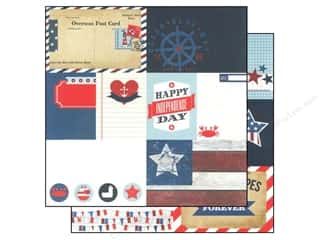 "Design Originals Stars: Simple Stories Paper 12""x 12"" Sea To Shining Sea Elements #1 (25 pieces)"