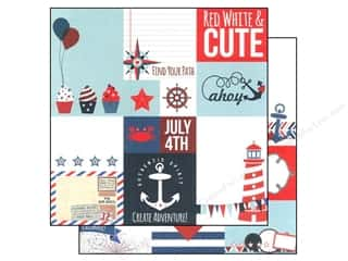 "Independence Day $2 - $4: Simple Stories Paper 12""x 12"" Sea To Shining Sea Elements #2 (25 pieces)"