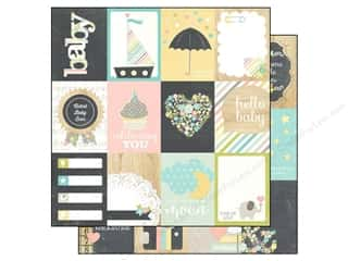 Simple Stories Paper 12x12 Hello Baby Journal 3x4 (25 piece)