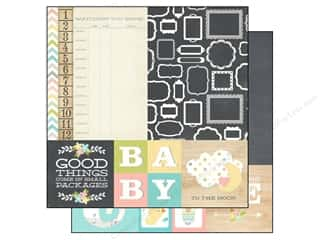Simple Stories Paper 12x12 Hello Baby Quote & Mat (25 piece)